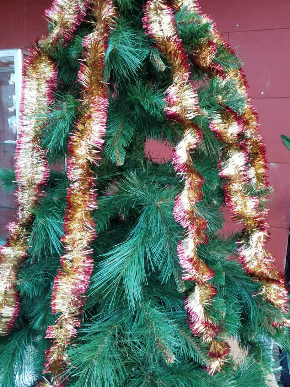 Garlands red gold, 70mm thick, 200cm long, 10 pieces
