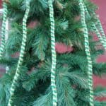 Garlands green gold, 15mm thick, 210cm long, 10 pieces