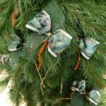 Christmas tree stitch tied ready, 12cm, rustic, 13 pieces