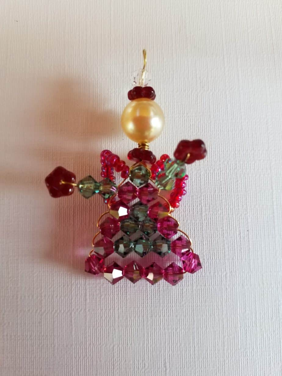 Pearl angel Made of Swarovski Crystal Beads, 35mm, 1 pieces